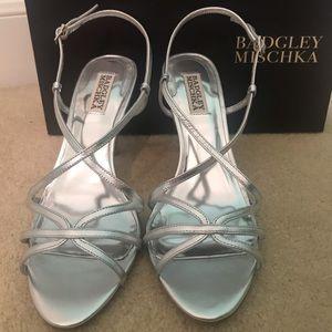 Never been worn Badgley Mischka evening heels.